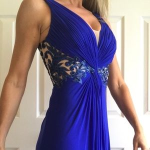 Royal Blue Formal Floor Length Gown